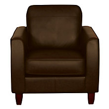Buy John Lewis Portia Leather Armchair with Dark Leg, Earth Online at johnlewis.com