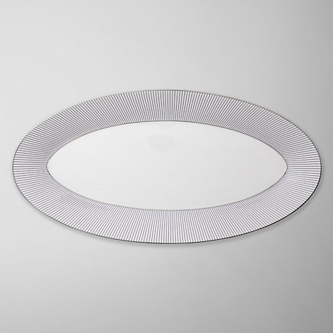 Buy Jasper Conran for Wedgwood Pinstripe Oval Platter Online at johnlewis.com