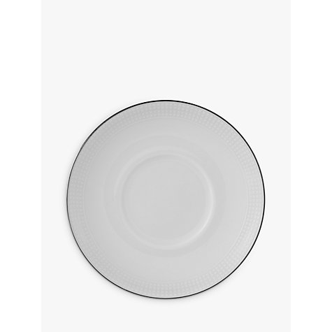 Buy Vera Wang for Wedgwood Blanc sur Blanc Espresso Saucer Online at johnlewis.com