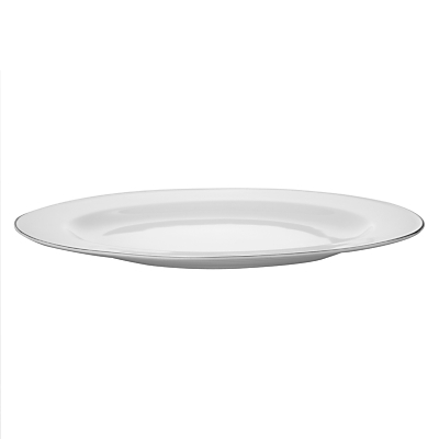 Vera Wang for Wedgwood Blanc sur Blanc Oval Dish, 35cm