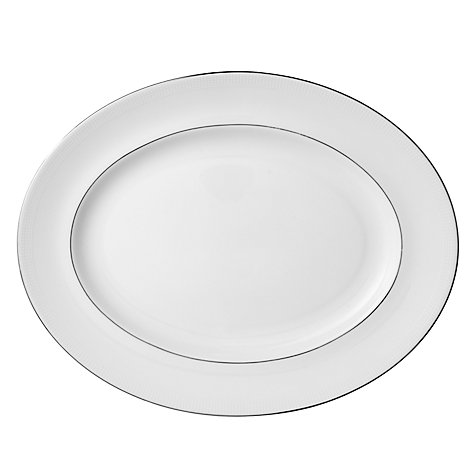 Buy Vera Wang for Wedgwood Blanc sur Blanc Oval Dish, 35cm Online at johnlewis.com