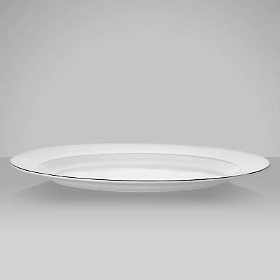 Vera Wang for Wedgwood Blanc sur Blanc Oval Dish, 39cm