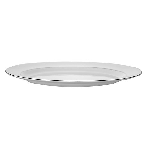 Buy Vera Wang for Wedgwood Blanc sur Blanc Oval Dish, 39cm Online at johnlewis.com