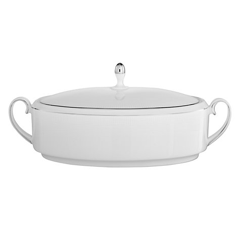 Buy Vera Wang for Wedgwood Blanc sur Blanc Covered Vegetable Dish, 1.4L Online at johnlewis.com