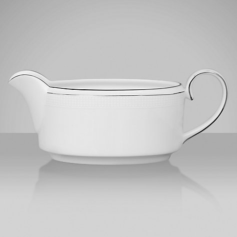 Buy Vera Wang for Wedgwood Blanc sur Blanc Sauce Boat, 0.35L Online at johnlewis.com