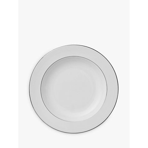 Buy Vera Wang for Wedgwood Blanc sur Blanc Soup Plate, Dia.23cm, White Online at johnlewis.com