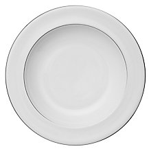 Buy Vera Wang for Wedgwood Blanc sur Blanc Pasta Plate, Dia.28cm Online at johnlewis.com