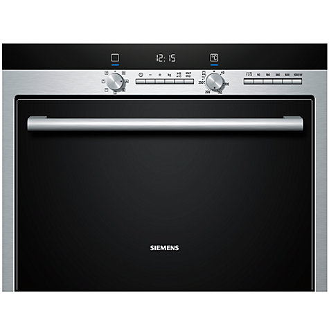 Buy Siemens HB84E562B Built-in Combination Microwave, Stainless Steel Online at johnlewis.com