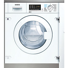 Buy Siemens WK14D540GB Integrated Washer Dryer, 6kg Wash/4kg Dry Load, B Energy Rating, 1400rpm Spin Online at johnlewis.com