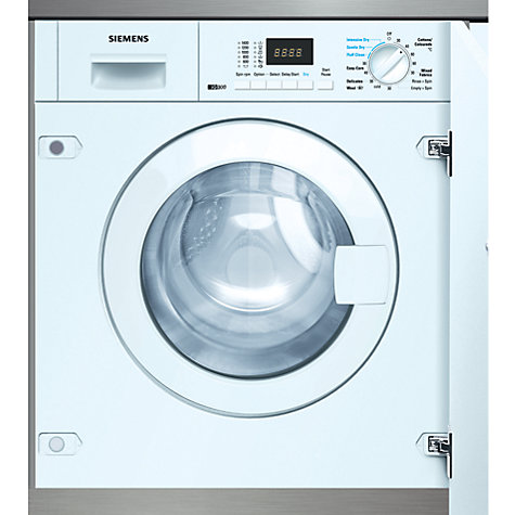 Buy Siemens WK14D320GB Integrated Washer Dryer, 6kg Wash/4kg Dry Load, B Energy Rating, 1400rpm Spin Online at johnlewis.com