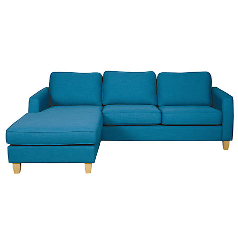 Buy John Lewis Portia LHF Chaise End Sofa with Light Legs Online at johnlewis.com