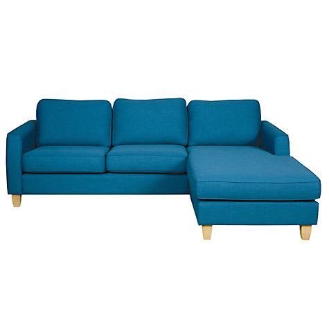 Buy John Lewis Portia RHF Chaise End Sofa, / Light Leg Online at johnlewis.com