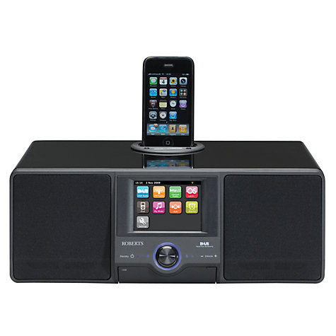 Buy ROBERTS Colour Stream DAB Internet Radio and iPod Dock Online at johnlewis.com