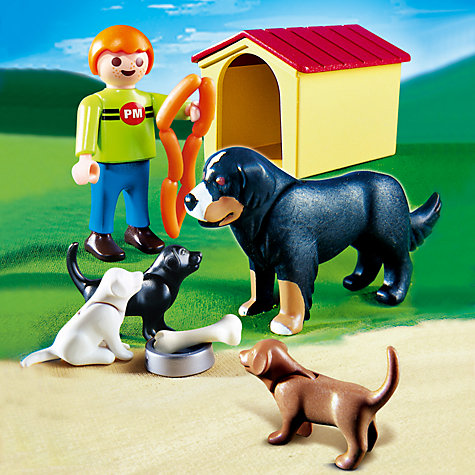 Buy Playmobil Dog & Puppies Online at johnlewis.com