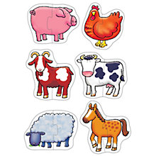 Buy Orchard Toys Farmyard Jigsaw Puzzles, Pack of 6 Online at johnlewis.com