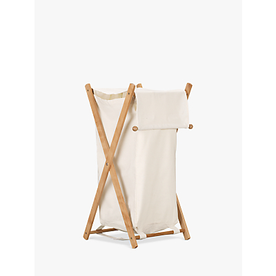 John Lewis Laundry Hamper, White