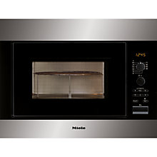 Buy Miele M8261-2 Built-in Microwave, Stainless Steel Online at johnlewis.com