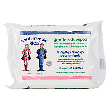 Buy Earth Friendly Kids Flushable and Biodegradable Wipes, Pack of 60 Online at johnlewis.com