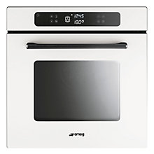 Buy Smeg F610AB Marc Newson Single Electric Oven, Vetro Blanco Online at johnlewis.com