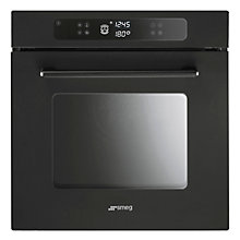 Buy Smeg F610AN Marc Newson Single Electric Oven, Vetro Nero Online at johnlewis.com