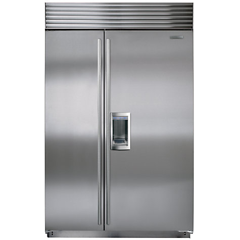 Buy Sub-Zero ICBBI48SD/S/TH Integrated Side by Side Fridge Freezer, Stainless Steel Online at johnlewis.com