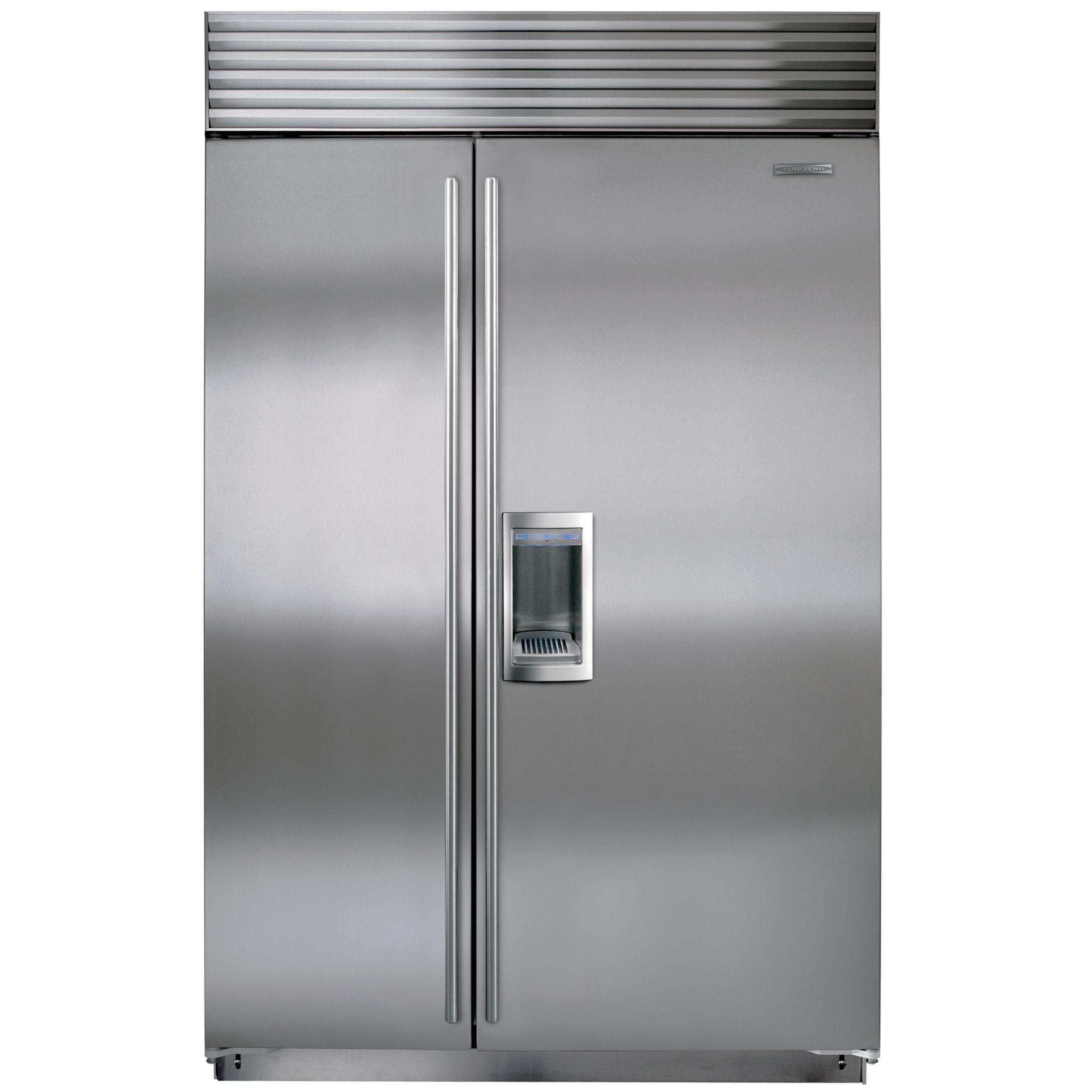 Sub-Zero Sub-Zero ICBBI48SD/S/TH Integrated Side by Side Fridge Freezer, Stainless Steel
