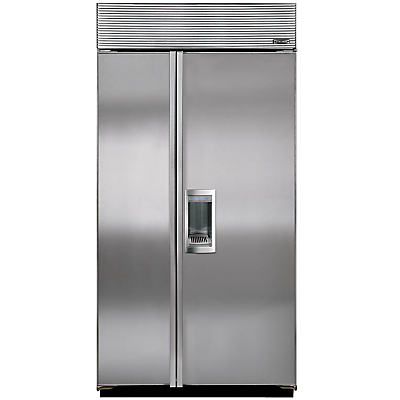 Image of Sub-Zero ICBBI42SD/S/TH Integrated Side by Side Fridge Freezer, Stainless Steel