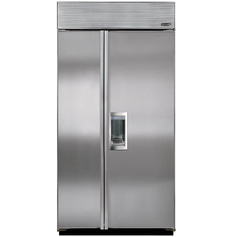 Sub-Zero Sub-Zero ICBBI42SD/S/TH Integrated Side by Side Fridge Freezer, Stainless Steel