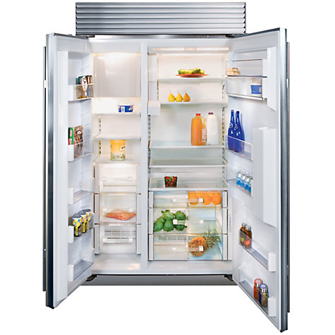 Buy Sub-Zero ICBBI42SD/S/TH Integrated Side by Side Fridge Freezer, Stainless Steel Online at johnlewis.com