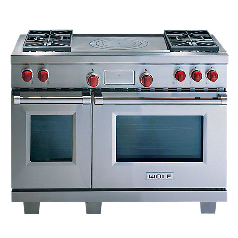 Buy Wolf ICBDF484F Dual Fuel Range Cooker, Stainless Steel Online at johnlewis.com
