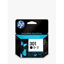Buy HP 301 Inkjet Cartridge, Black, CH561EE Online at johnlewis.com