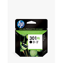 Buy HP 301XL Inkjet Cartridge, Black, CH563EE Online at johnlewis.com