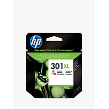 Buy HP 301XL Inkjet Cartridge, Tri-Colour, CH562EE Online at johnlewis.com