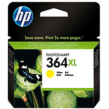 Buy HP 364XL Printer Cartridge, Yellow, CB325EE Online at johnlewis.com