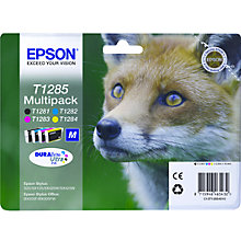 Buy Epson T1285 Fox Inkjet Cartridge Multipack Online at johnlewis.com