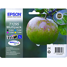 Buy Epson T1295 Apple Inkjet Cartridge Multipack Online at johnlewis.com