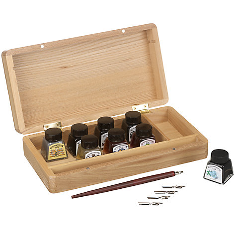 Buy Wooden Box Calligraphy Set Online at johnlewis.com