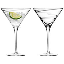 Buy LSA Malika Spiral Cocktail Glasses, Platinum, Grand, Set of 2 Online at johnlewis.com