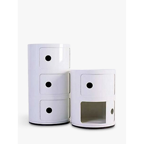 Buy Kartell Componibili Circular Storage Unit, 2 Tier, White Online at johnlewis.com