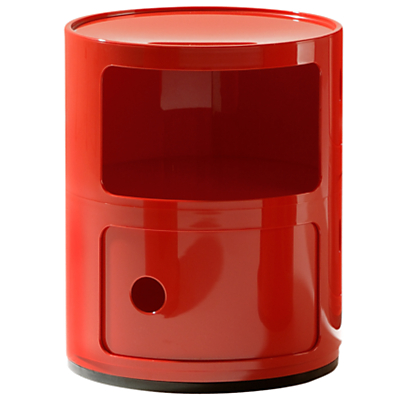 Kartell Componibili Circular Storage Unit, 2 Tier, Red