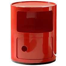 Buy Kartell Componibili Circular Storage Unit, 2 Tier, Red Online at johnlewis.com