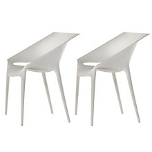 Buy Philippe Starck for Kartell Dr.Yes Chair, White, Pair Online at johnlewis.com