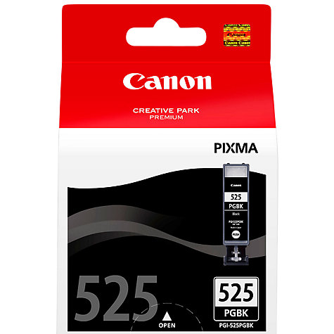 Buy Canon PIXMA PGI-525PGBK Inkjet Cartridge, Black Online at johnlewis.com