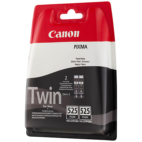 Buy Canon PGI-525PGBK Inkjet Cartridge Multipack, Pigment Black Online at johnlewis.com