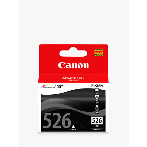 Buy Canon Inkjet Cartridge, Black, CLI-526BK Online at johnlewis.com