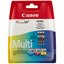 Buy Canon CL-526 Colour Inkjet Cartridge Multipack Online at johnlewis.com