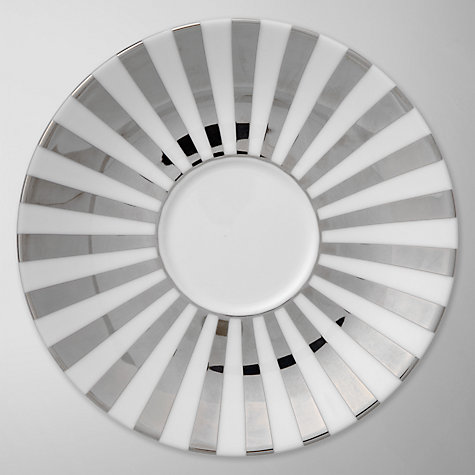 Buy Jasper Conran for Wedgwood Platinum Striped Tea Saucer Online at johnlewis.com