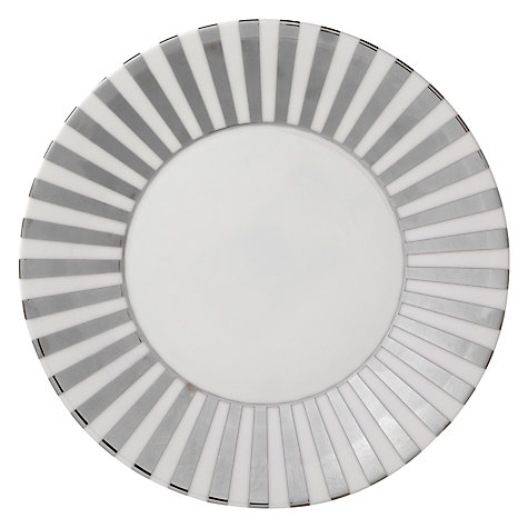 Buy Jasper Conran for Wedgwood Platinum Striped Plate, Dia.23cm Online at johnlewis.com