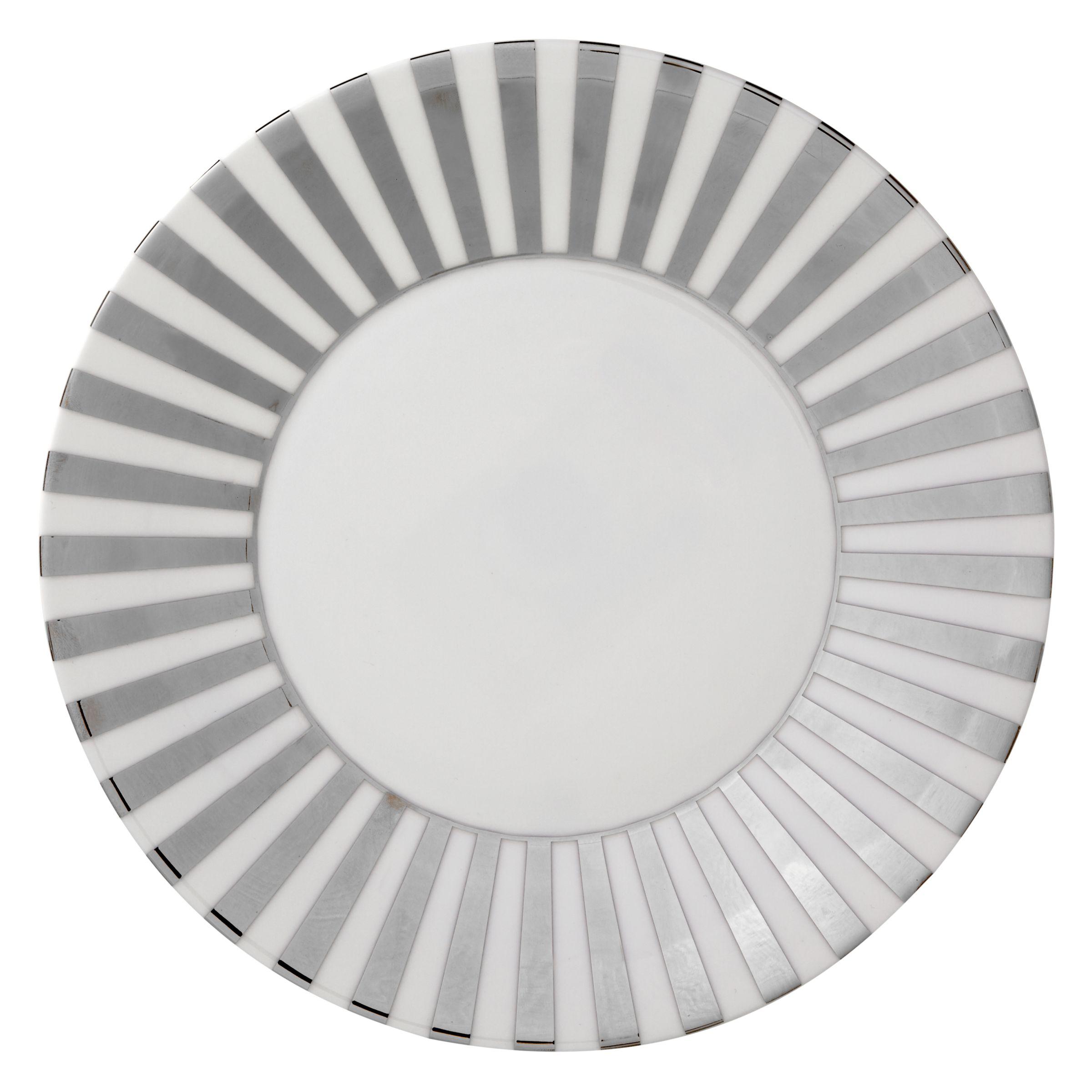 Jasper Conran Jasper Conran for Wedgwood Platinum Striped 23cm Plate