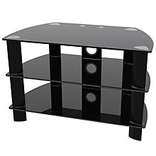 "Buy John Lewis JL800/B10 Television Stand for TVs up to 37"", Black Glass Online at johnlewis.com"